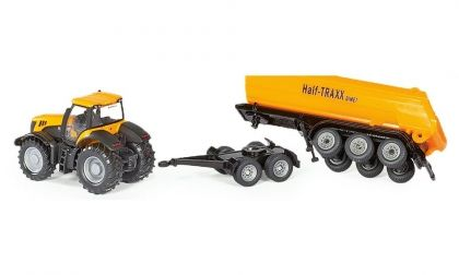 SIKU,  Tractor dolly and tipping, trailer, JCB, трактор, ремарке, игра, игри, играчка, играчки